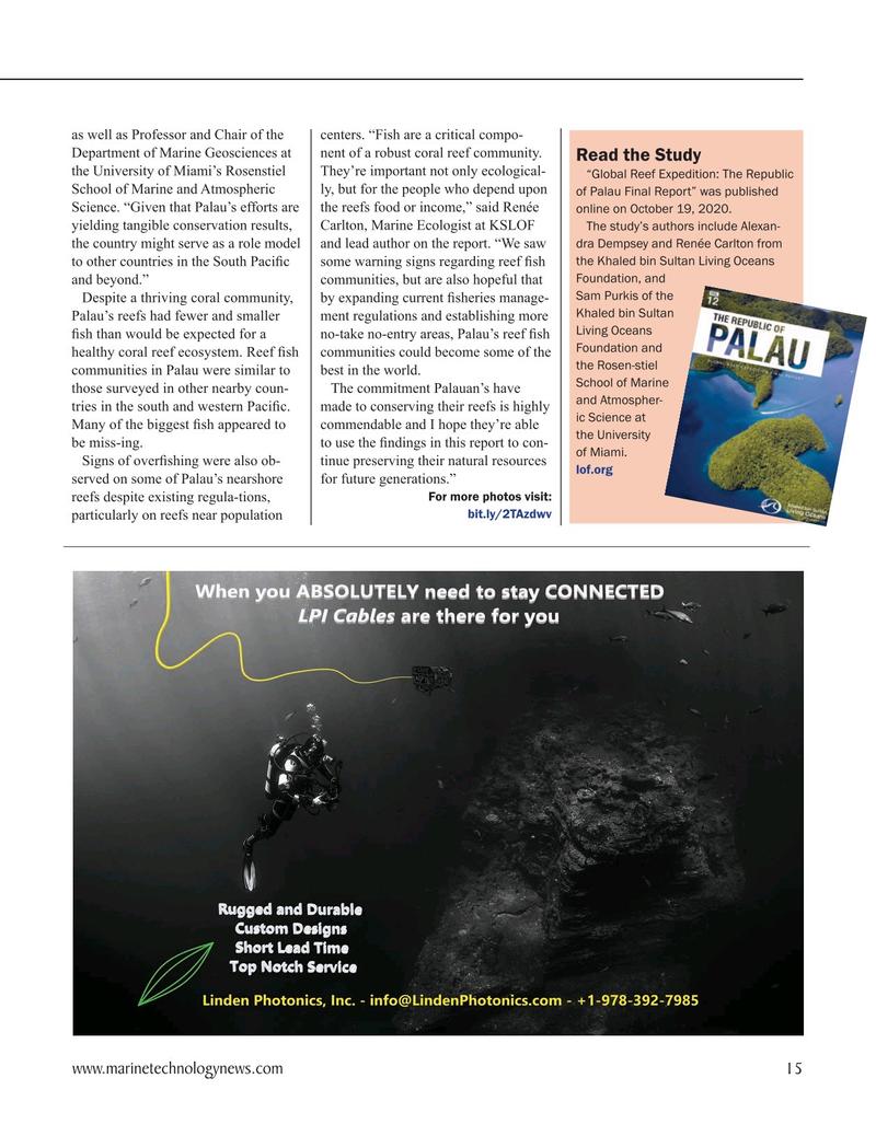 Marine Technology Magazine, page 15,  Nov 2020
