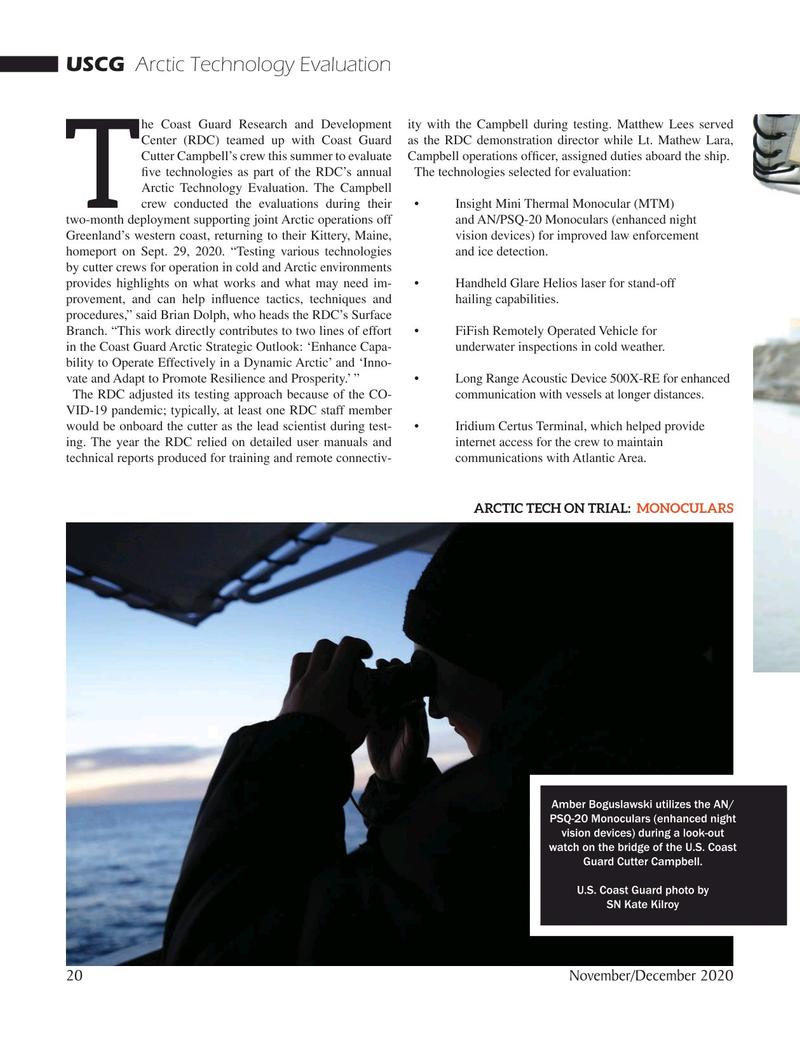 Marine Technology Magazine, page 20,  Nov 2020