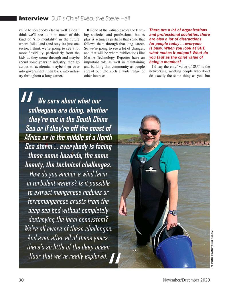 Marine Technology Magazine, page 30,  Nov 2020