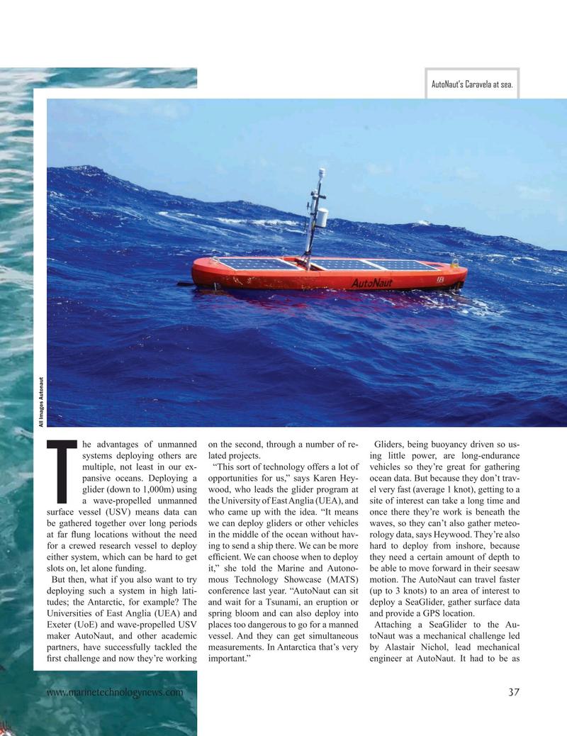 Marine Technology Magazine, page 37,  Nov 2020
