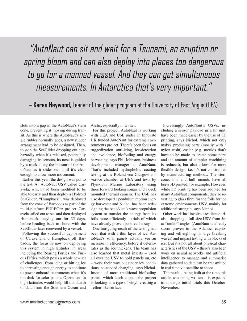 Marine Technology Magazine, page 39,  Nov 2020
