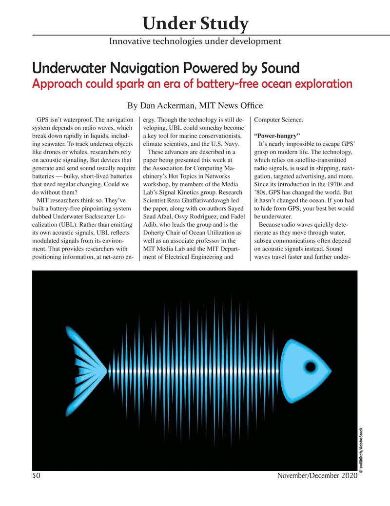Marine Technology Magazine, page 50,  Nov 2020