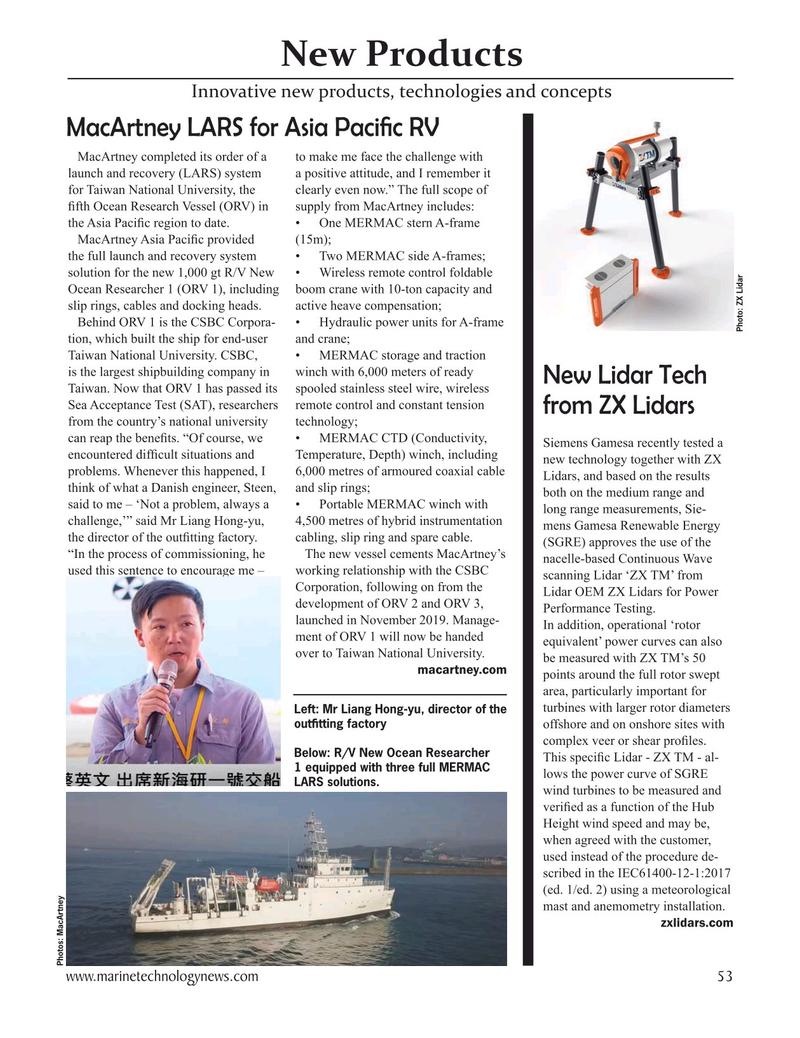 Marine Technology Magazine, page 53,  Nov 2020