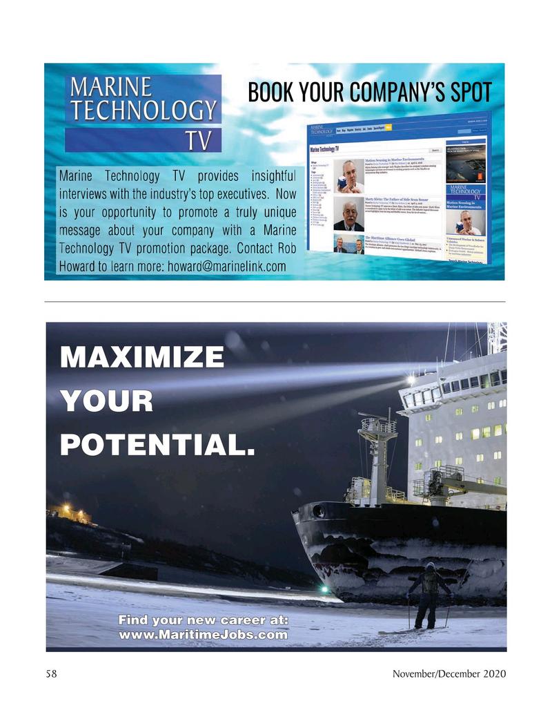 Marine Technology Magazine, page 58,  Nov 2020