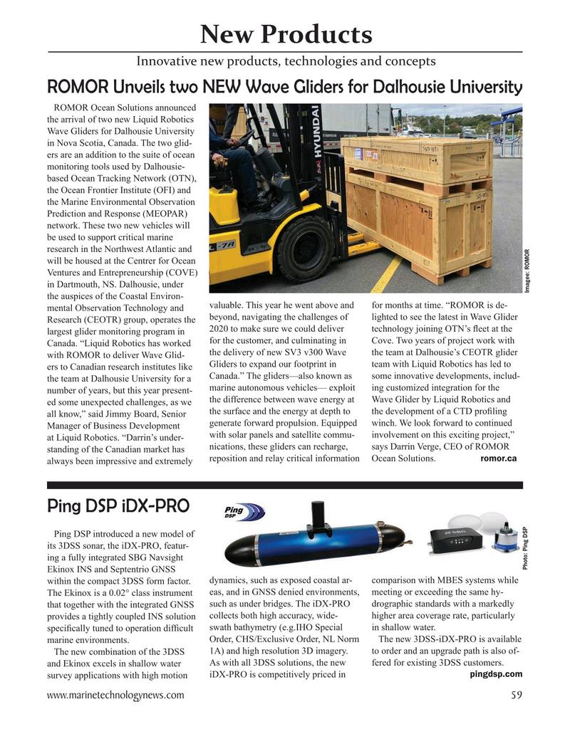 Marine Technology Magazine, page 59,  Nov 2020