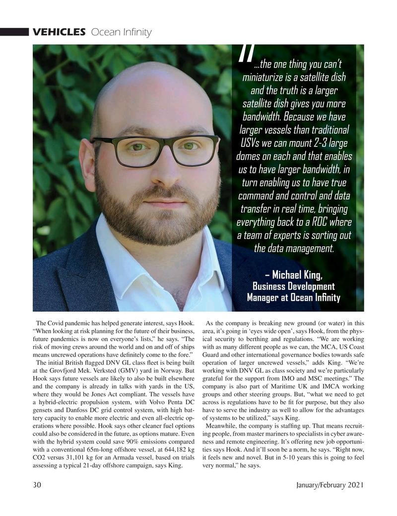 Marine Technology Magazine, page 30,  Jan 2021