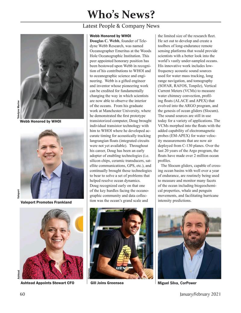 Marine Technology Magazine, page 60,  Jan 2021