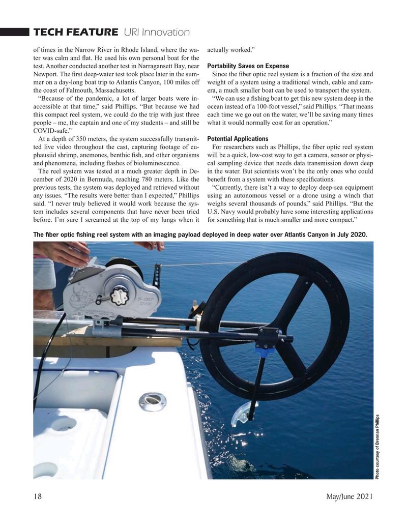 Marine Technology Magazine, page 18,  May 2021