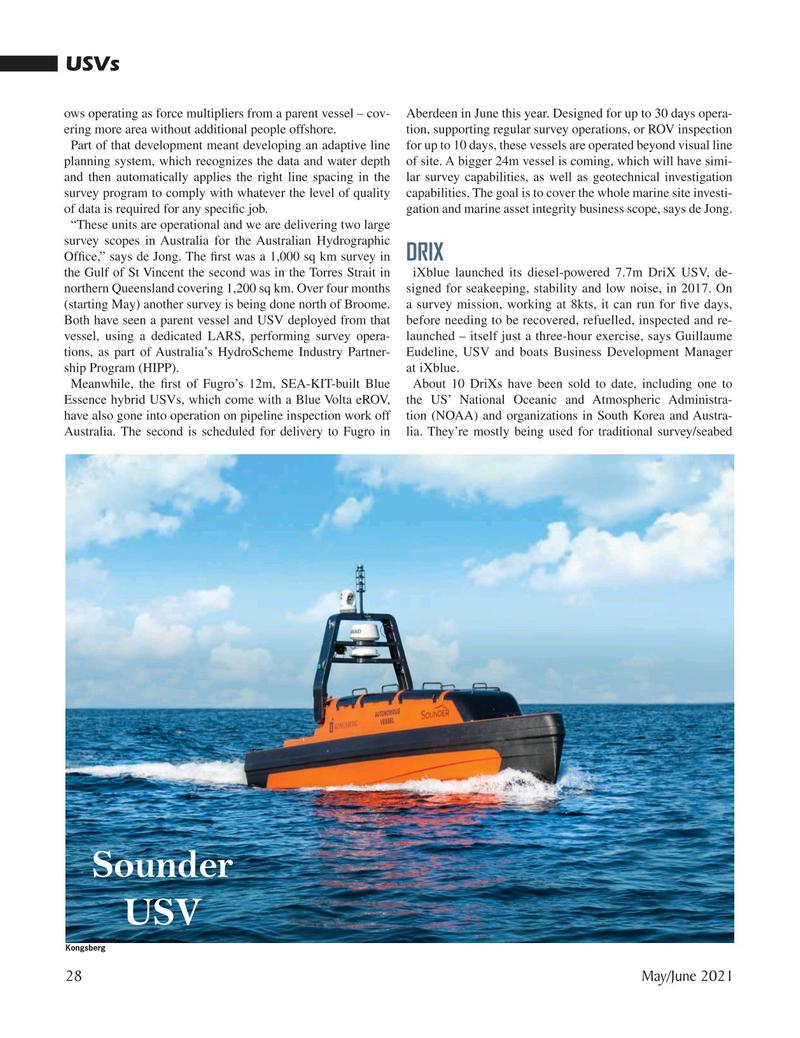 Marine Technology Magazine, page 28,  May 2021