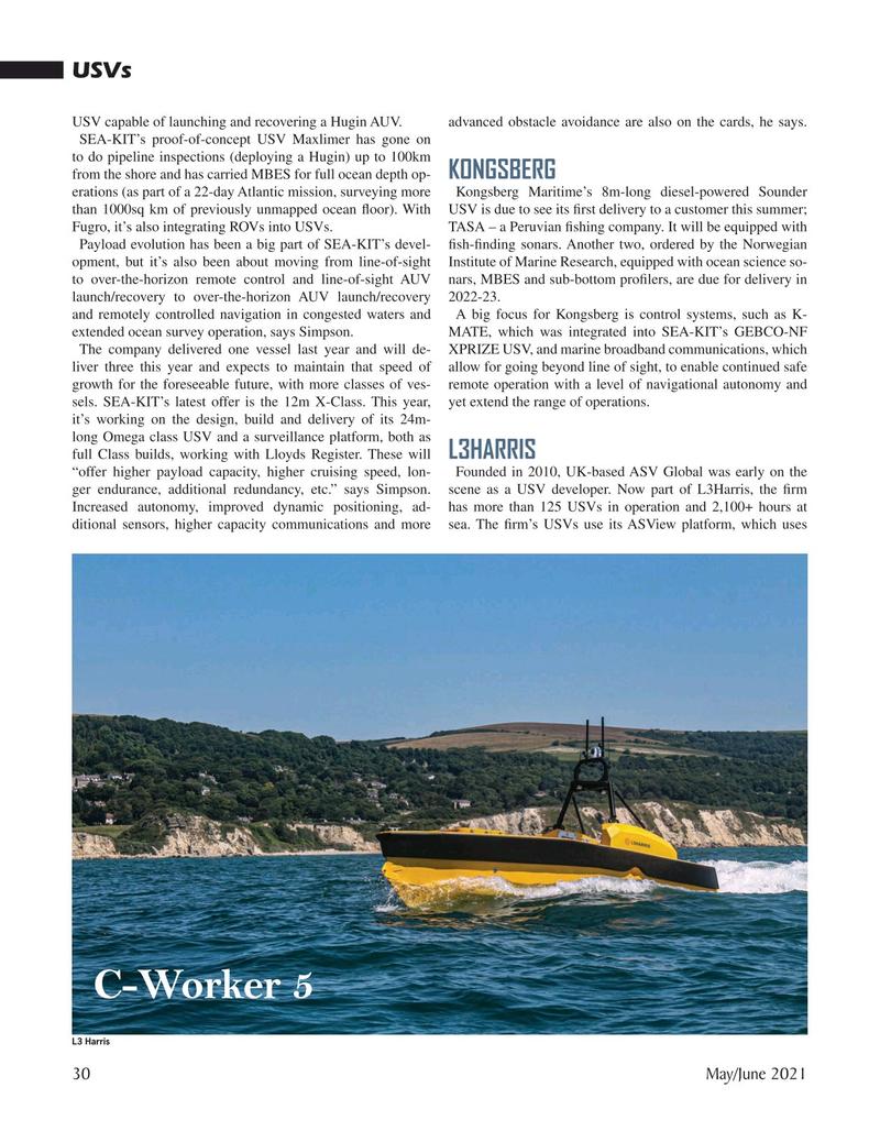 Marine Technology Magazine, page 30,  May 2021