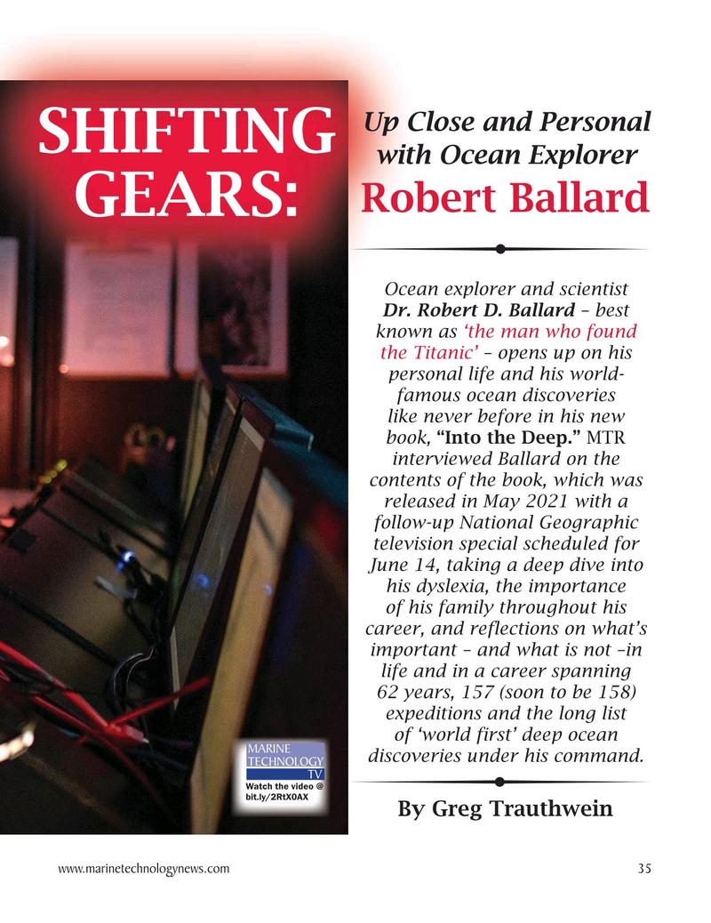 Marine Technology Magazine, page 35,  May 2021