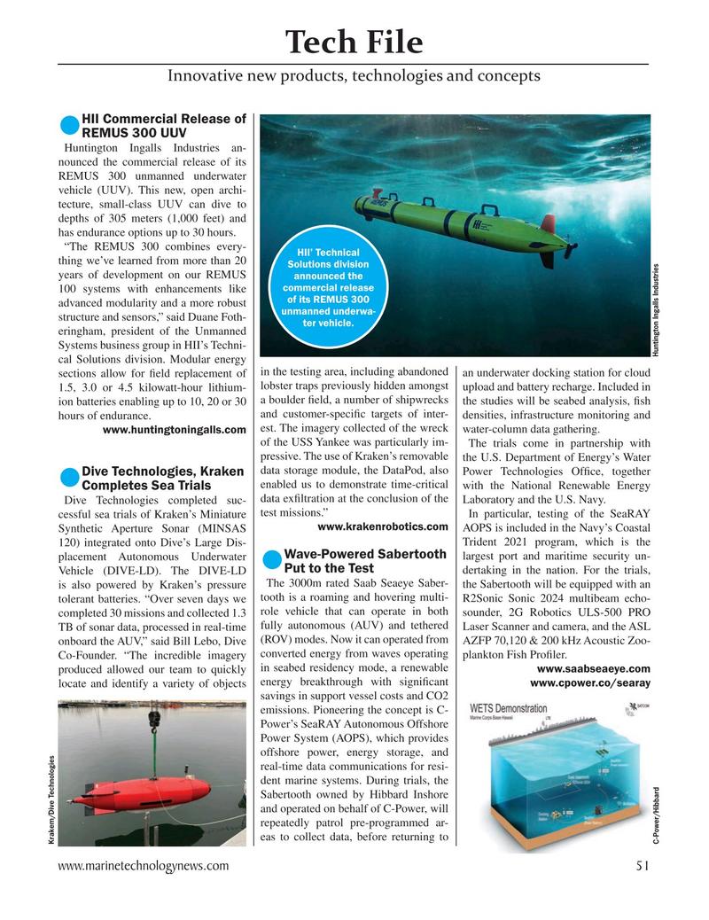 Marine Technology Magazine, page 51,  May 2021