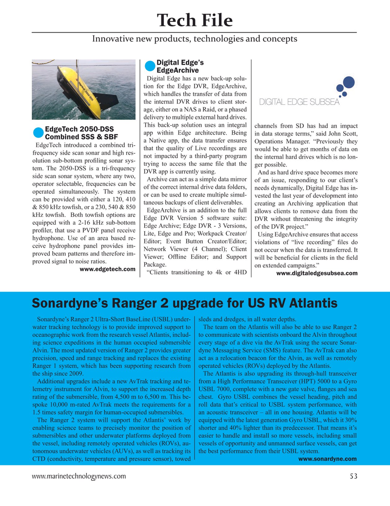 Marine Technology Magazine, page 53,  May 2021