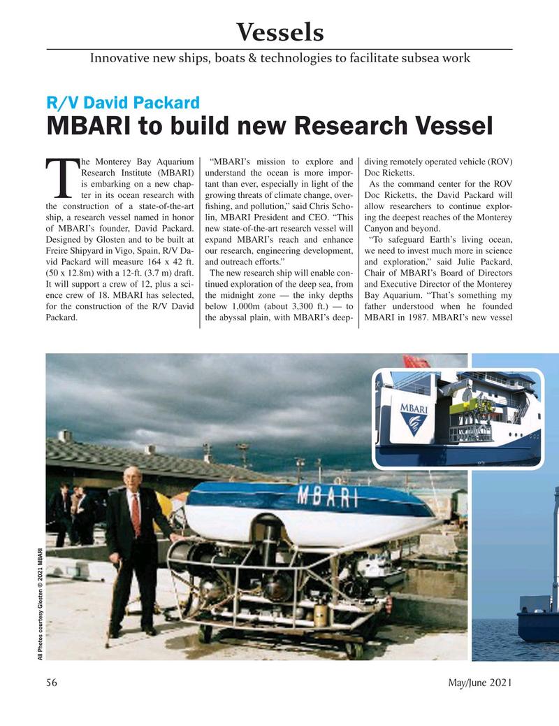 Marine Technology Magazine, page 56,  May 2021
