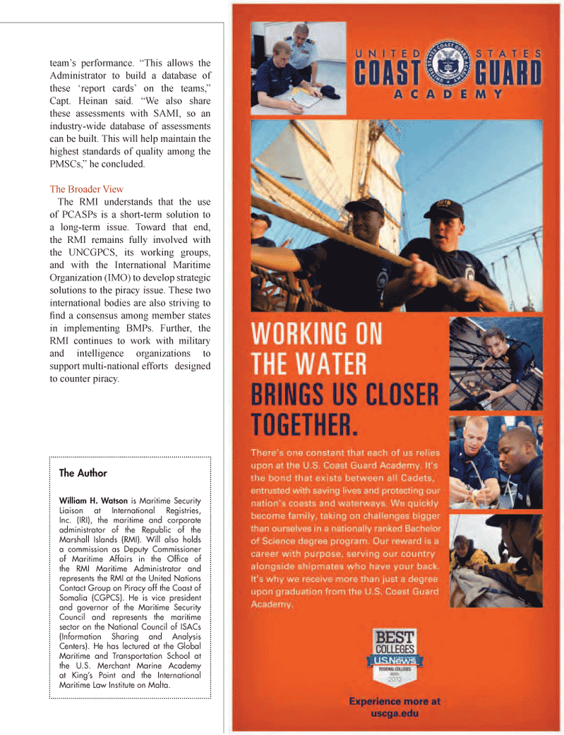 Maritime Logistics Professional Magazine, page 9,  Q1 2012 International Maritime Law Institute on Malta