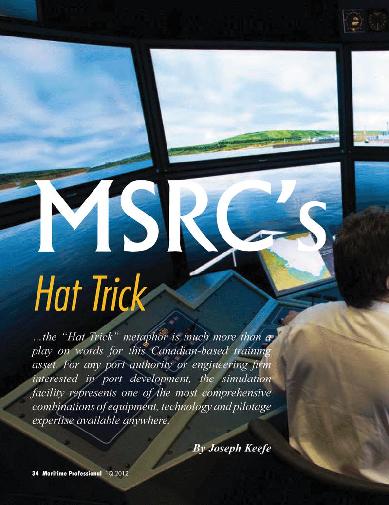 Maritime Logistics Professional Magazine, page 34,  Q1 2012 Joseph Keefe