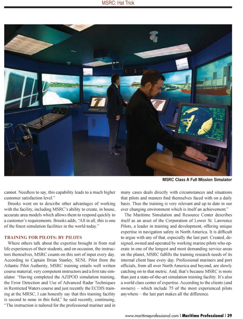 Maritime Logistics Professional Magazine, page 39,  Q1 2012 North America