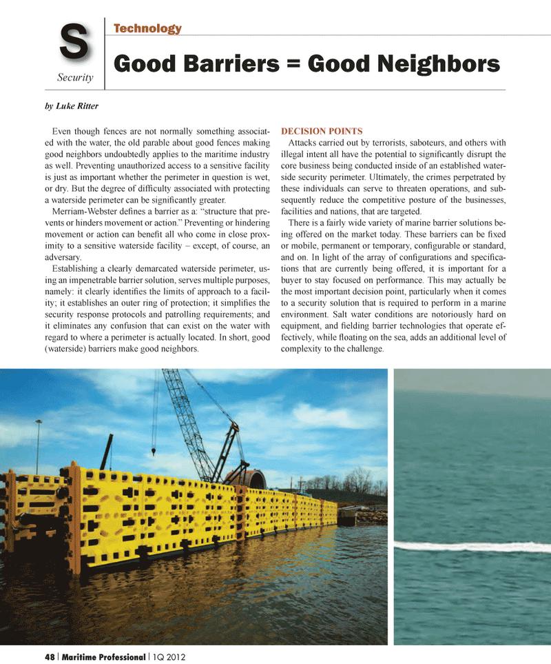 Maritime Logistics Professional Magazine, page 48,  Q1 2012 Luke Ritter