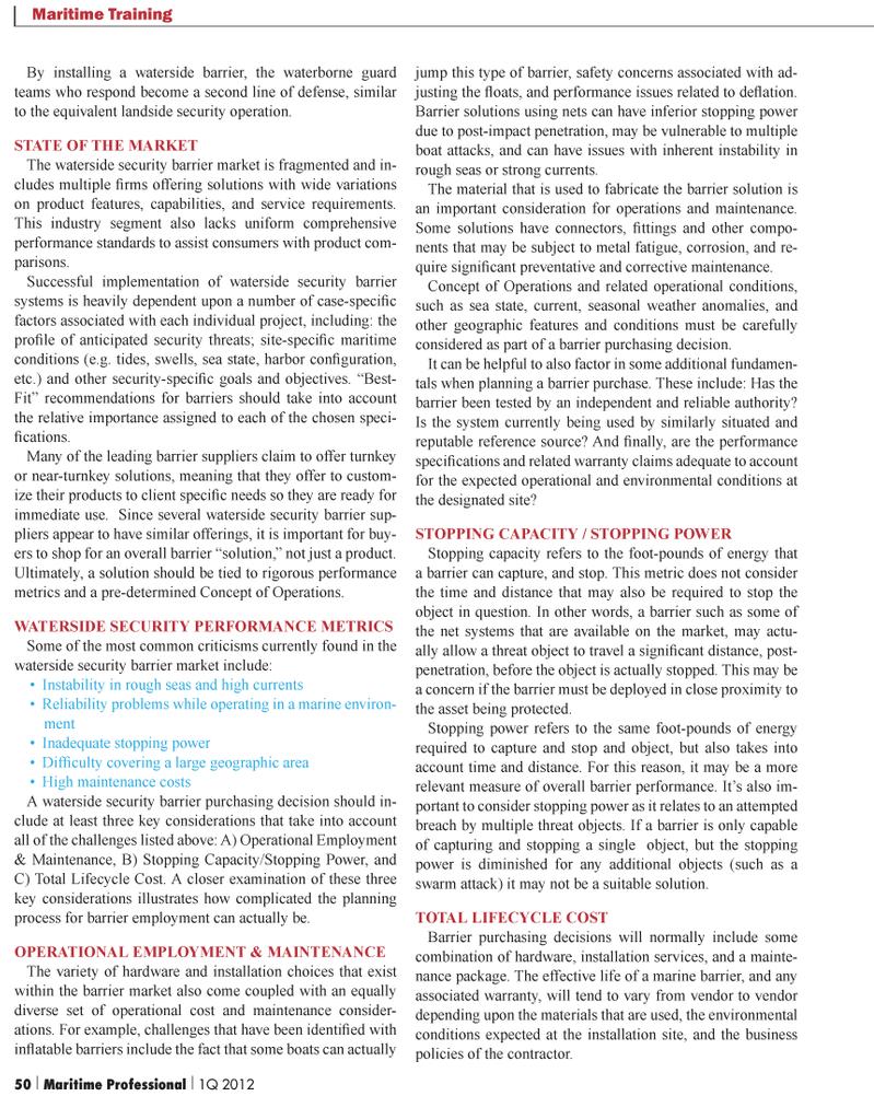 Maritime Logistics Professional Magazine, page 50,  Q1 2012 combinationof hardware