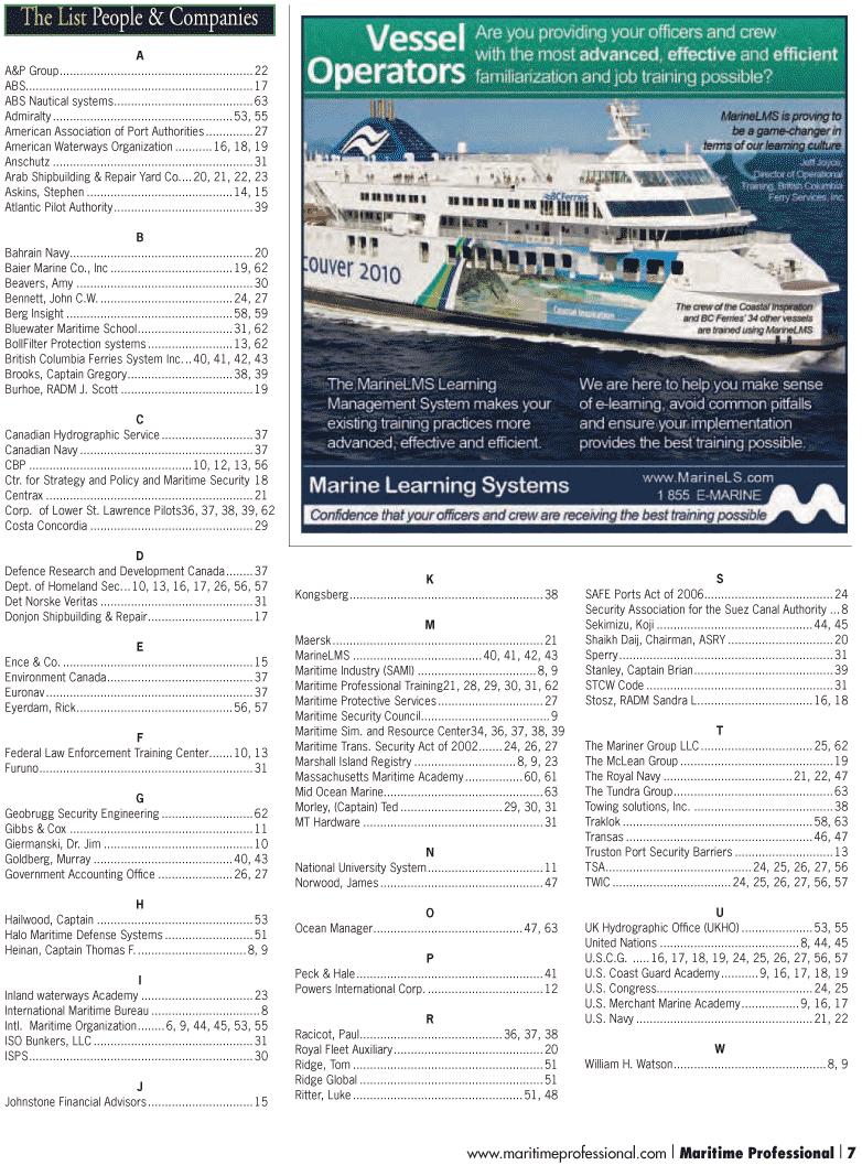 Maritime Logistics Professional Magazine, page 7,  Q1 2012 Shaikh Daij