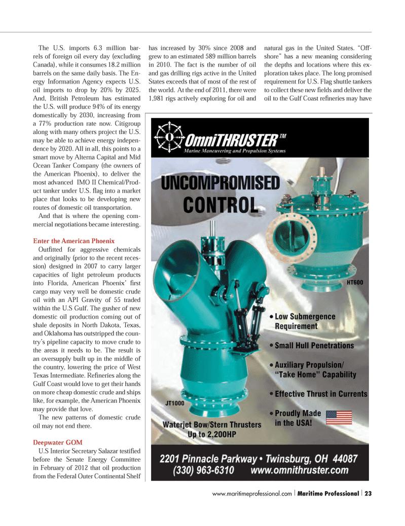 API, Maritime Logistics Professional Magazine Q3 2012 #23