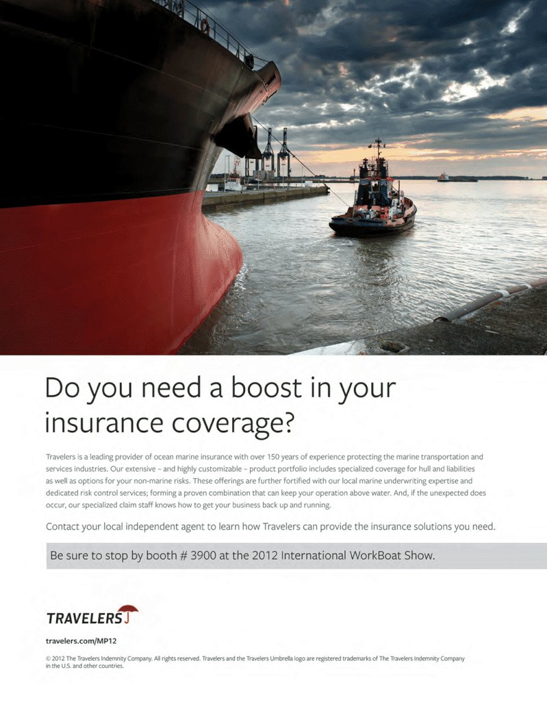 Maritime Logistics Professional Magazine, page 2nd Cover,  Q4 2012