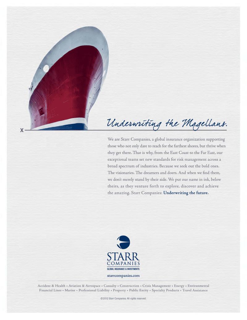 Maritime Logistics Professional Magazine, page 1,  Q4 2012