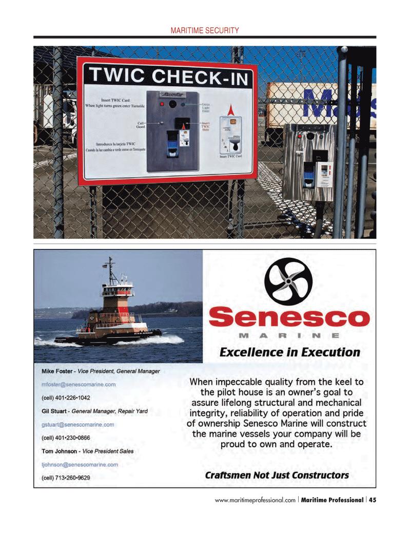 Maritime Logistics Professional Magazine, page 45,  Q4 2012