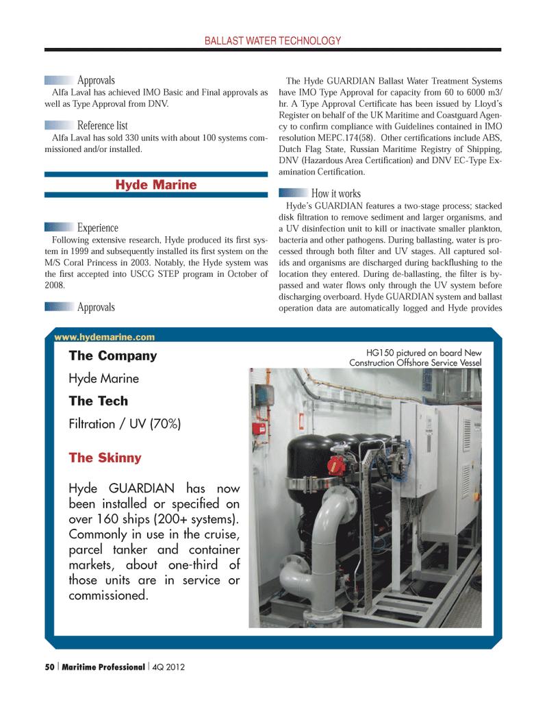 Maritime Logistics Professional Magazine, page 50,  Q4 2012