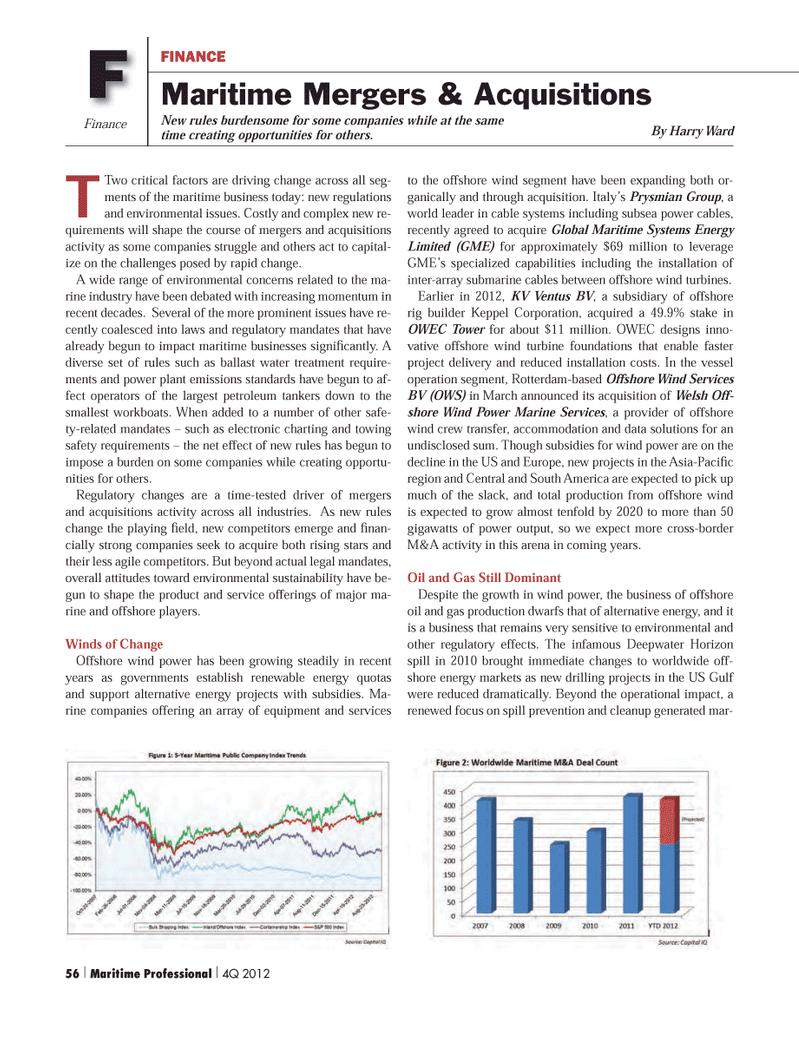 Maritime Logistics Professional Magazine, page 56,  Q4 2012