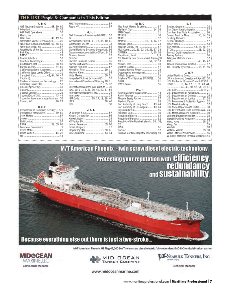 Maritime Logistics Professional Magazine, page 7,  Q4 2012