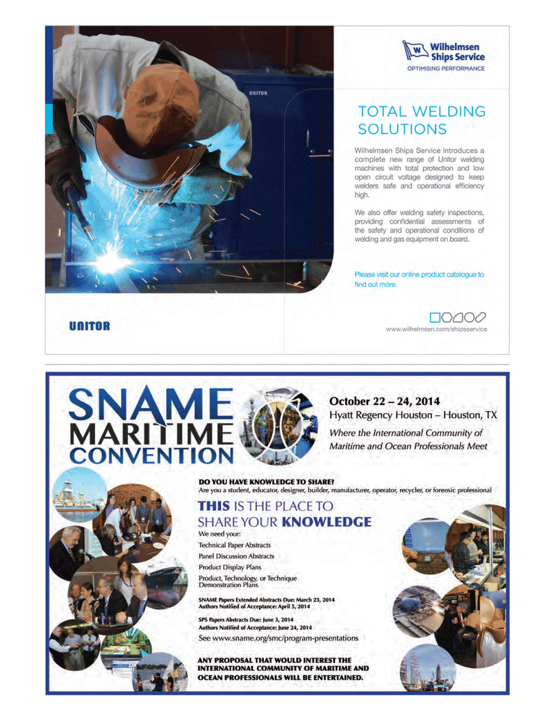 Maritime Logistics Professional Magazine, page 15,  Q1 2014