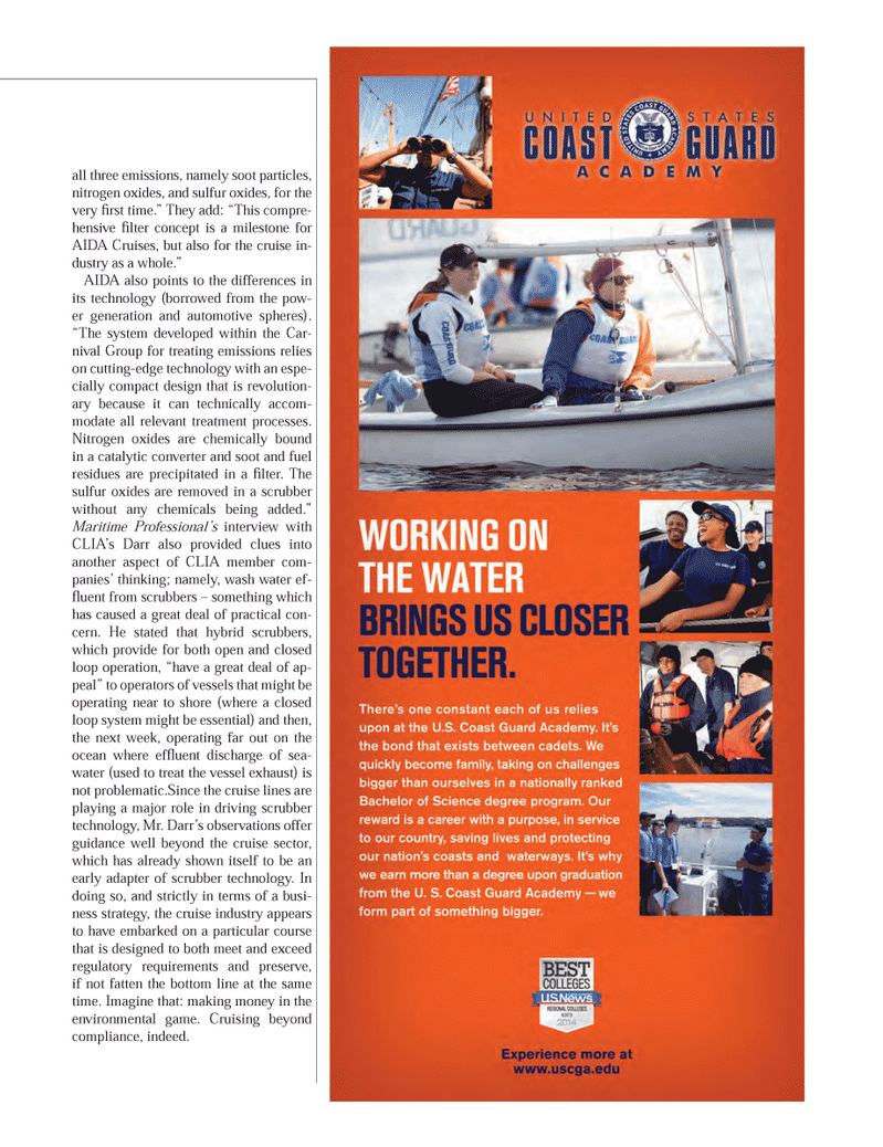 Maritime Logistics Professional Magazine, page 19,  Q1 2014 Darr