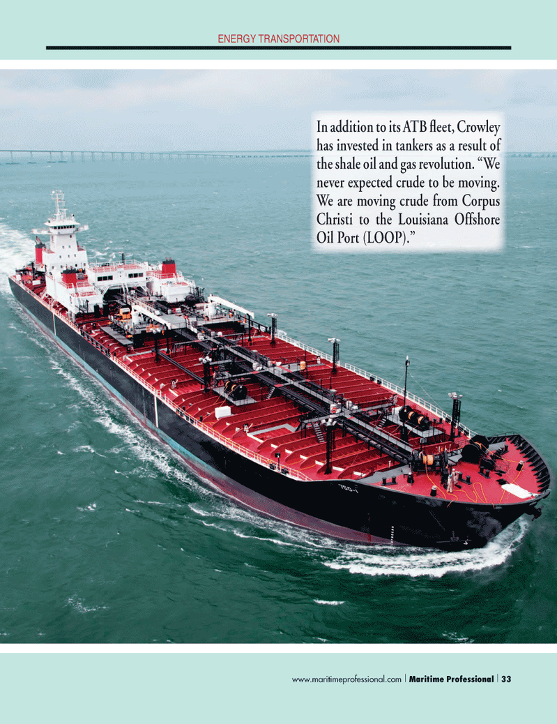 Maritime Logistics Professional Magazine, page 33,  Q1 2014 Louisiana Offshore Oil Port