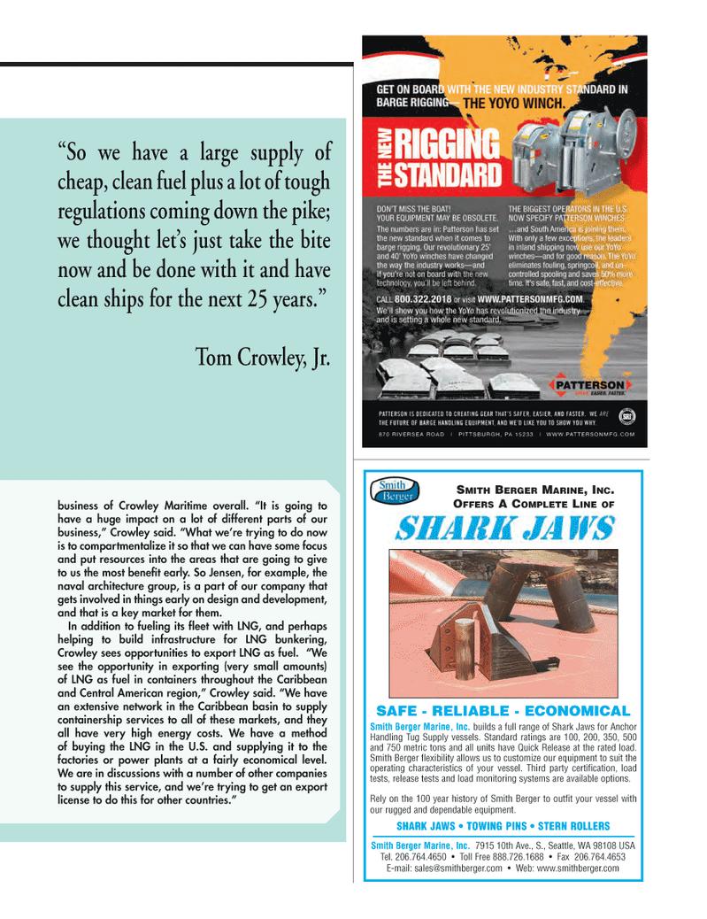 Maritime Logistics Professional Magazine, page 39,  Q1 2014 high energy costs