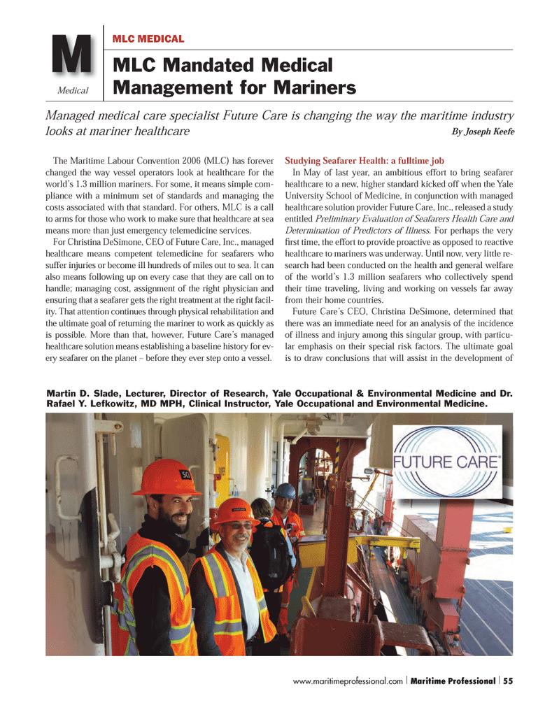 Maritime Logistics Professional Magazine, page 55,  Q1 2014 Joseph Keefe
