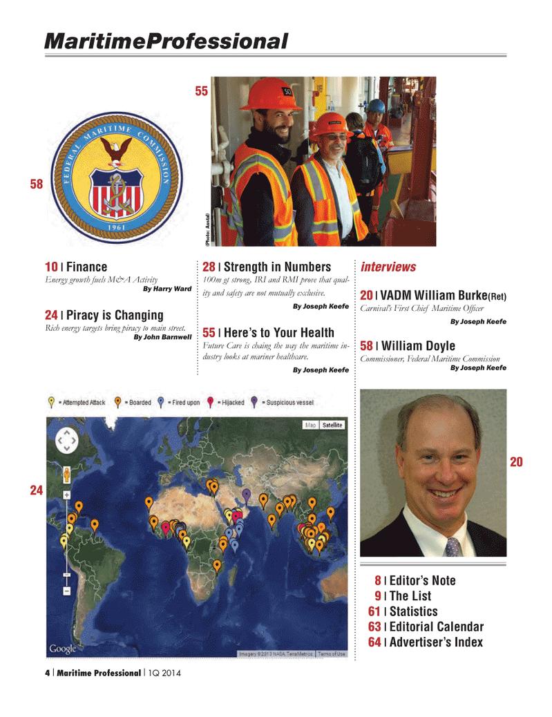 Maritime Logistics Professional Magazine, page 4,  Q1 2014 Harry Ward