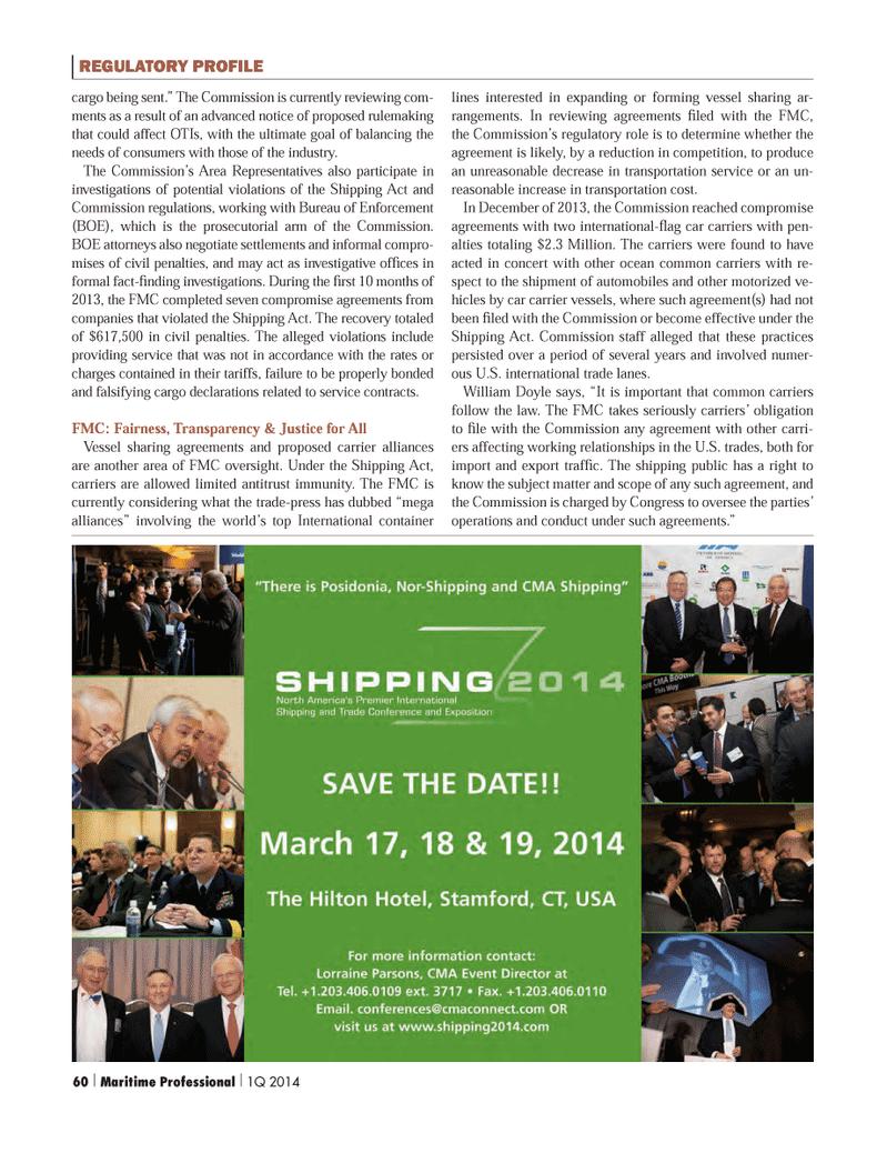 Maritime Logistics Professional Magazine, page 60,  Q1 2014 transportation cost