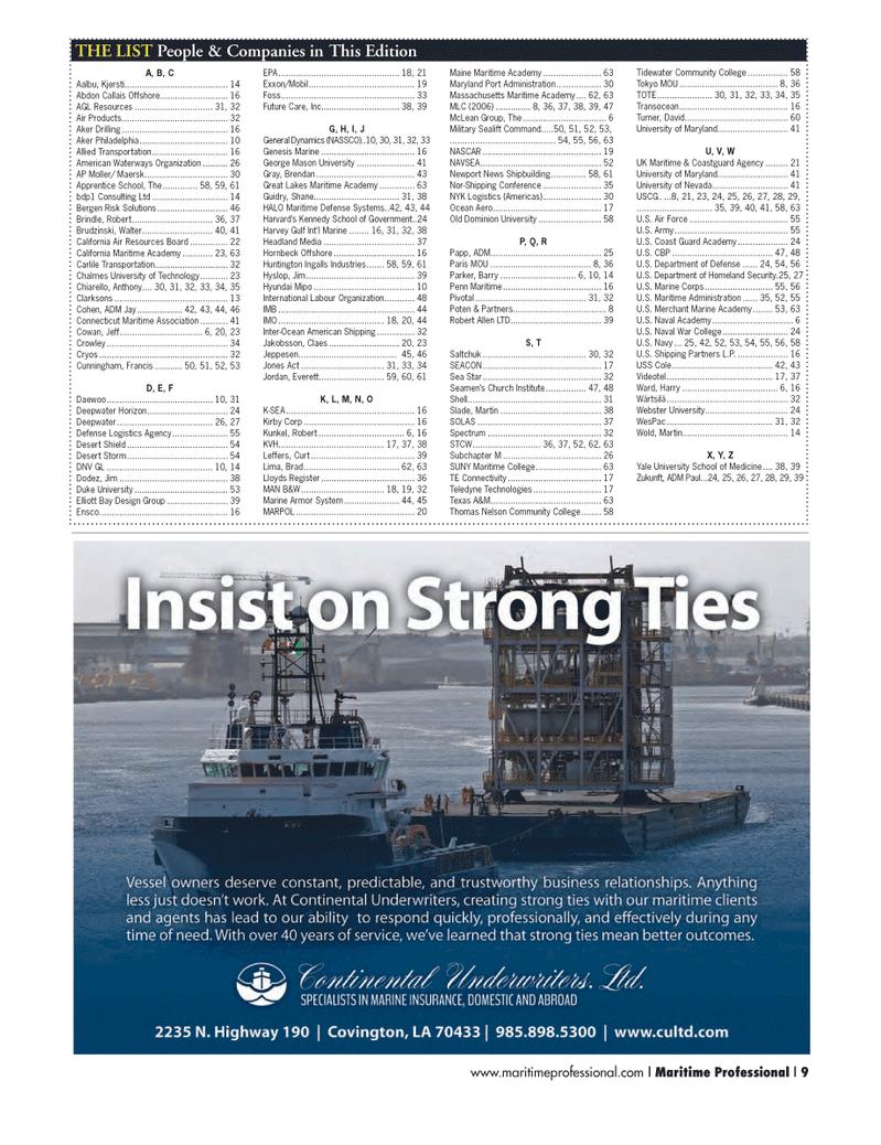Maritime Logistics Professional Magazine, page 9,  Q3 2014