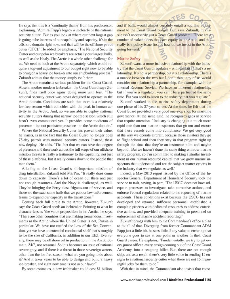 Maritime Logistics Professional Magazine, page 25,  Q3 2014