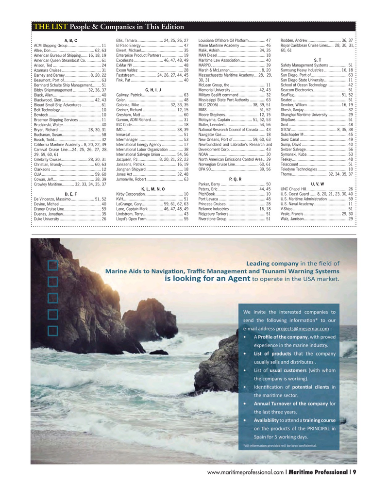 Maritime Logistics Professional Magazine, page 9,  Q1 2015
