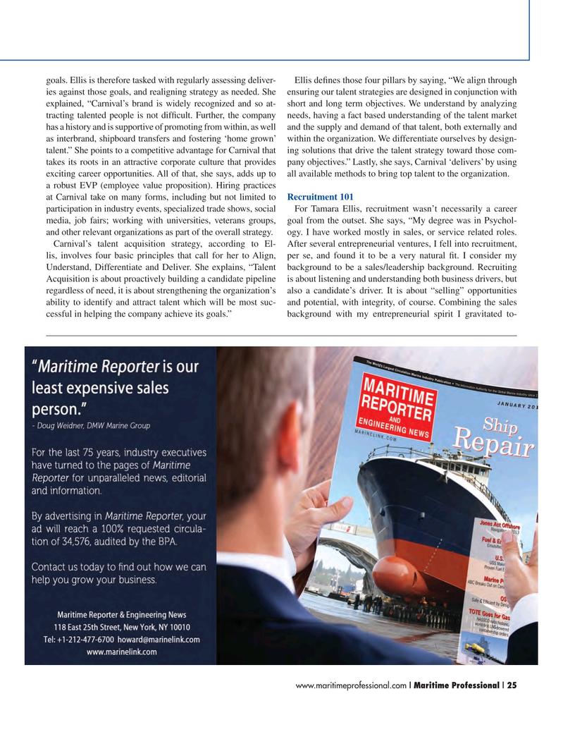 Maritime Logistics Professional Magazine, page 25,  Q1 2015