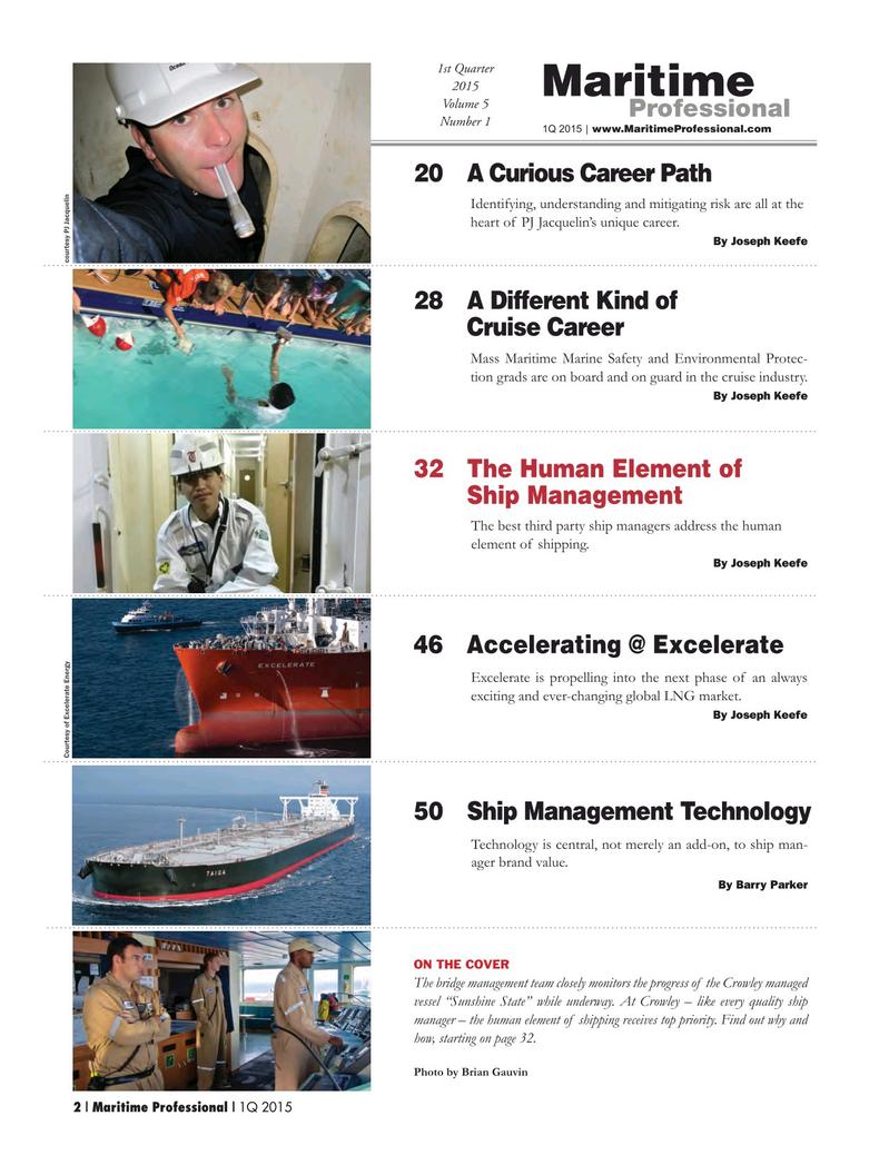 Maritime Logistics Professional Magazine, page 2,  Q1 2015