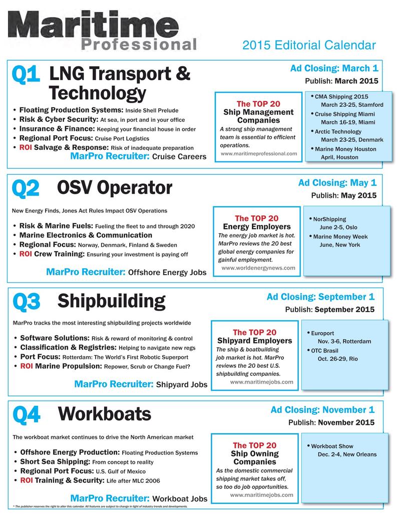 Maritime Logistics Professional Magazine, page 41,  Q1 2015