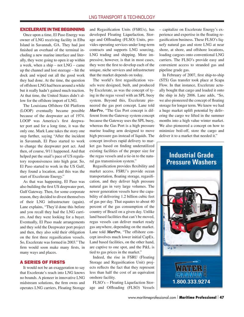 Maritime Logistics Professional Magazine, page 47,  Q1 2015