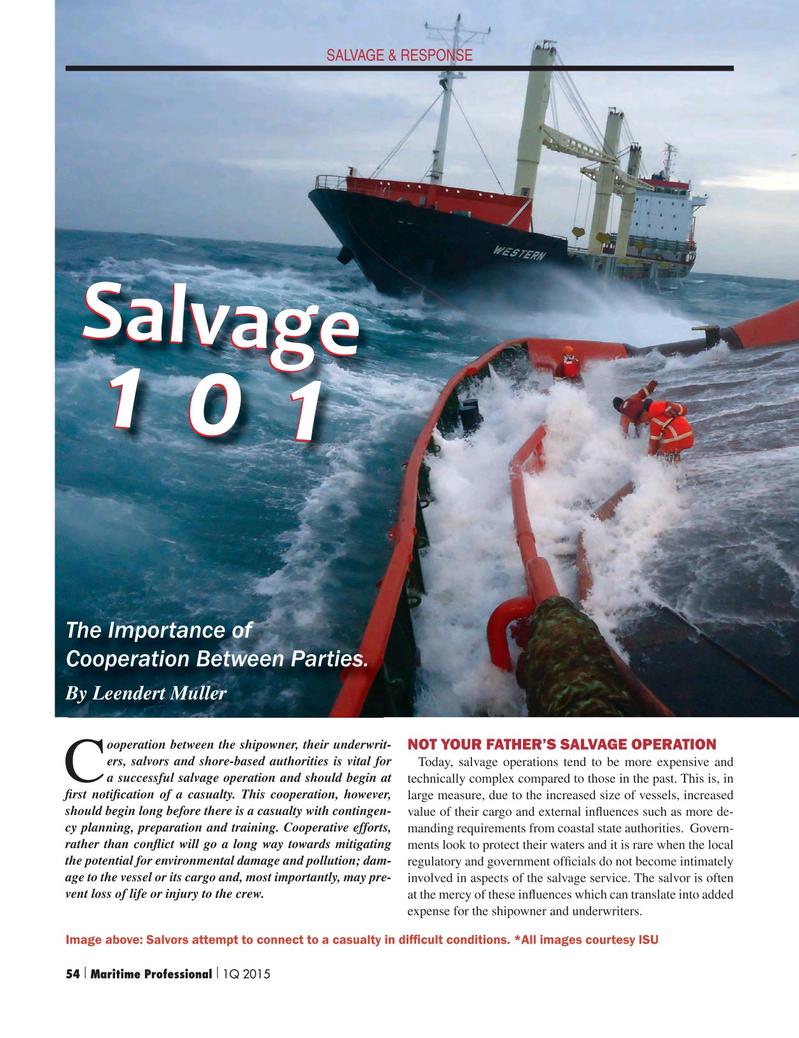 Maritime Logistics Professional Magazine, page 54,  Q1 2015