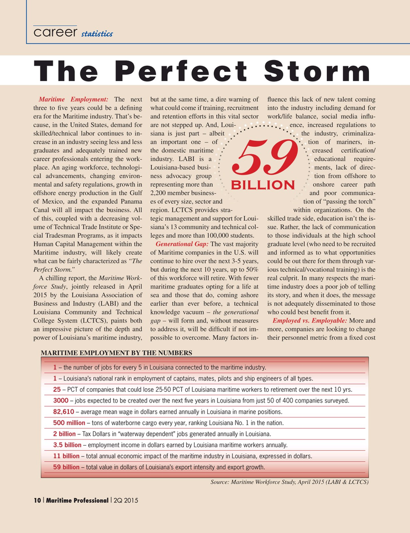 Maritime Logistics Professional Magazine, page 10,  Q2 2015