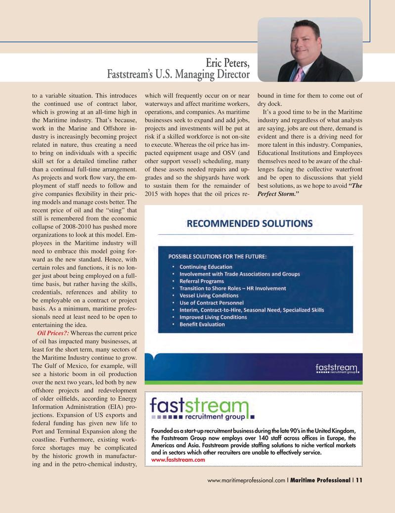 Maritime Logistics Professional Magazine, page 11,  Q2 2015