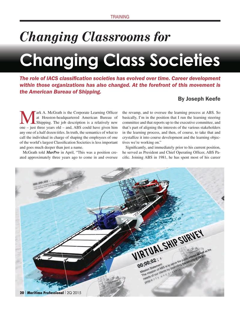 Maritime Logistics Professional Magazine, page 20,  Q2 2015