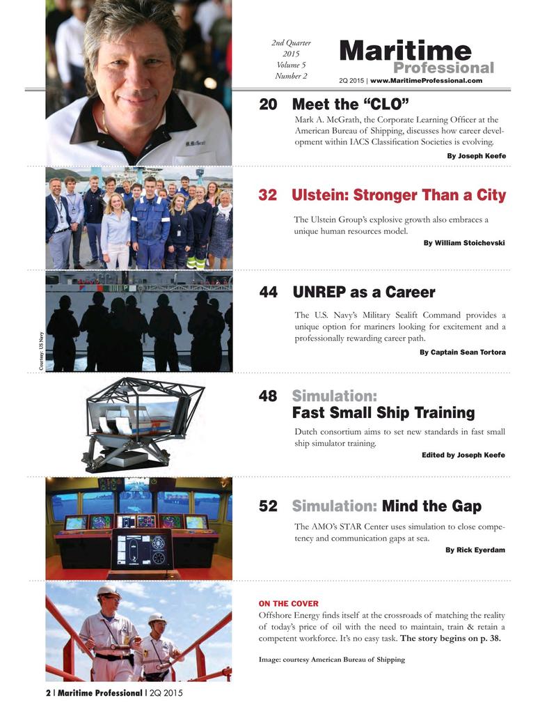 Maritime Logistics Professional Magazine, page 2,  Q2 2015